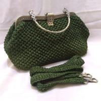 Tas Pesta Hand Made Rajut Hand Bag Wanita