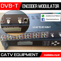 DVB-T Encoder Modulator AV To RF CATV Headend TV Kabel Digital