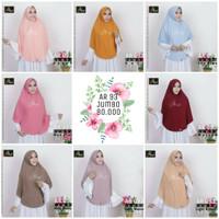 Jual Hijab Ar Rafi | AR 093 | Bergo/Jilbab Instan Serut Tali Belakang Jumbo Murah