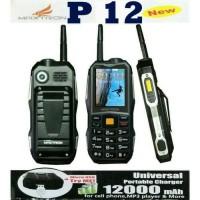 HP MAXTRON P12 POWERBANK 12000 Mah POLOS DAN LORENG