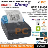 POS-5805DD Portable Mini 58mm Bluetooth Thermal Printer IOS Android
