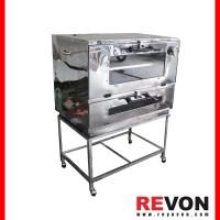 Oven gas Stainless Murah p75 Manual, untuk roti/cake/kue dll