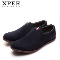 Harga original xper men flats shoes slip on sepatu pria kulit new   antitipu.com