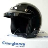 Cargloss Helmet CF Retro Deep Black Helm Motor Premium Quality Murah