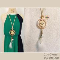 21.4 Kalung Simpel/ vintage retro/ daily office formal /hijab