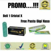 CRYSTAL X ORIGINAL gratis pasta gigi Nasa