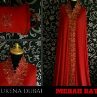 Jual Mukena Cantik Mewah Elegan Murah Warna Merah Bata