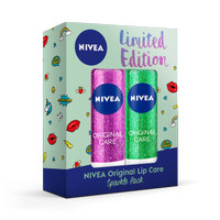 NIVEA Original Lip Care Sparkle Pack Green
