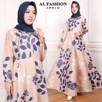 Maxi Emma Rose Baju Muslim Wanita Gamis Model Kekinian Terbaru