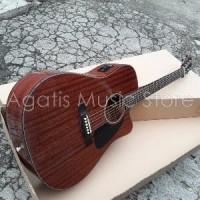 Gitar Akustik  elektrik Top Solid Mahogany FRi5 Origina Paling Laris