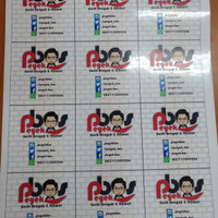 Harga cetak stiker sticker chromo