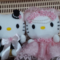 Jual Boneka sepasang pengantin hello kitty couple wedding dress Murah