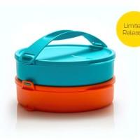 Click to go round Orange Tosca rantang susun Tupperware