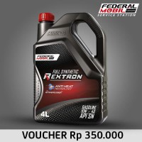 E-Voucher Retail Federal Mobil Rextron 10W 40 Full Synthetic 4L