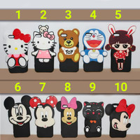 Case 4D Karakter kartun Doraemon Hello Kitty Lucu Hp Samsung C9 pro
