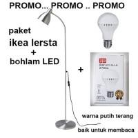 paket IKEA LERSTA Lampu Baca dan BOHLAM LED 3watt APA