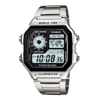 Jam Tangan Pria Digital Casio AE-1200WHD-1AV Original Custom
