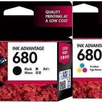 CARTRIDGE HP 680 ORIGINAL BLACK &TRICOLOR DESKJET 1110 1115 2130 2135