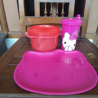 Paket Tupperware 100rb Paket Hello Kitty set