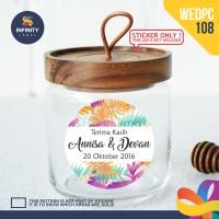label sticker souvenir pernikahan wedding kebaya pengantin WEDPC108
