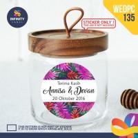 label sticker souvenir pernikahan wedding kebaya pengantin WEDPC135