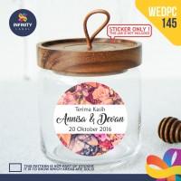 label sticker souvenir pernikahan wedding kebaya pengantin WEDPC145
