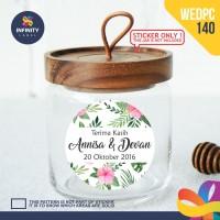label sticker souvenir pernikahan wedding kebaya pengantin WEDPC140