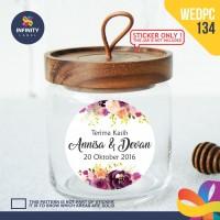 label sticker souvenir pernikahan wedding kebaya pengantin WEDPC134