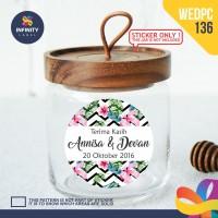 label sticker souvenir pernikahan wedding kebaya pengantin WEDPC136