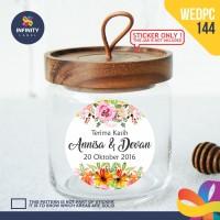 label sticker souvenir pernikahan wedding kebaya pengantin WEDPC144