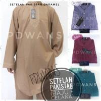 Jual Baju Koko SETELAN PAKISTAN DEWASA Muslim Celana & Baju Gamis WARNA Murah