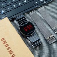 Jam tangan Samsung Touch LED set paket
