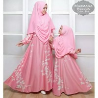 Dress / Gamis / Maxi Couple Ibu Anak Maxmara Rebecca