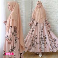 Gamis wanita muslim dress syari deliza