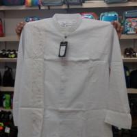 Atasan baju koko al madani putih M L XL pria dewasa