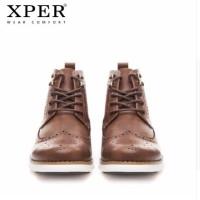 ORIGINAL XPER Brand Spring Winter Men Boots Fashion SEPATU PRIA COKLAT