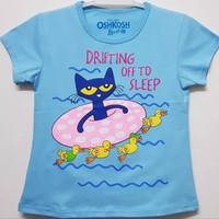 Baju kaos karakter anak perempuan oshkosh swim cat 7-10