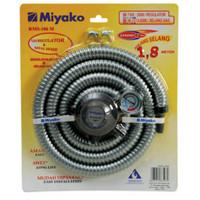 Selang gas paket regulator+meter miyako