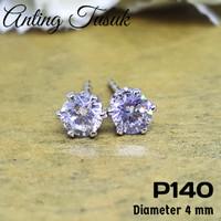 P140 Anting Berlian Kecil Cantik (Perhiasan Imitasi Xuping Lapis Emas)