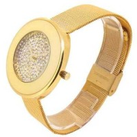 SK TIME Jam Tangan Analog Rhinestone - SK01 Gold