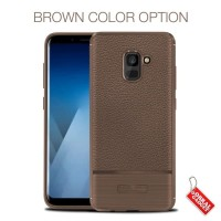 Softcase TPU Leather Luxury Cover Case Casing HP Samsung A6 Plus 2018