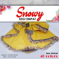 Kerudung Snowy A1 Umama Scarf Hijab Jilbab Segi Empat Polos Renda