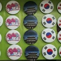 Grosir souvenir pin negara korea (oleh oleh selain kaos) negara korea