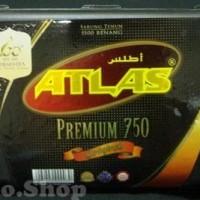 Kain Sarung Tenun Atlas Premium 750 Hitam polos HPL Original behaestex