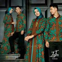 Jual Batik Couple Zafir Kemeja Maxi Dress Gamis Baju Muslim Pasangan Murah