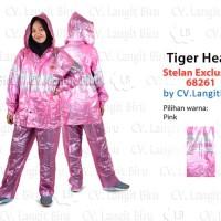 Jas Hujan Setelan Exclusive 68261 Tiger Head Jaket Motor Stelan