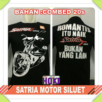 Baju Kaos Distro Motor Satria Fu 150 Siluet Club Komunitas Pria Wanita