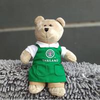 Starbucks Bearista Green Apron Old Logo Thailand