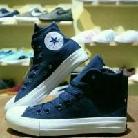 diskon Sepatu Converse High Allstar Blue navy untuk Jalan Santai