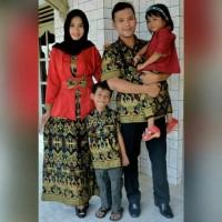 Baju batik Sarimbit Couple Kemeja Batik. Mama Papa & 1 anak perempuan